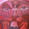 "Marion Lucka: Ölgemälde ""Paar sieht Rot"" 70 x 100 cm (2020)"