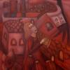 """Marion Lucka: Ölgemälde """"Roter Traum"""" 60 x 80 cm (November 2020)"""