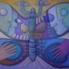 Marion Lucka: Schmetterling, 60 x 80 cm (2004)