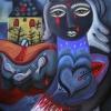 """Marion Lucka: Ölgemälde """"Schwarzer August"""" 60 x 80 cm  (2020)"""