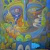 """Marion Lucka: """"Seelengesicht"""", Öl, 90 x 90 cm (1998)"""
