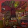 "Marion Lucka: Ölgemälde "" Im Sommerbaum"" 50 x 50 cm (Juni 2020)"