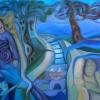 "Marion Lucka: Ölgemälde "" Warme Reise"" 70 x 100 cm (2018)"