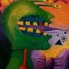 Marion Lucka: Überraschung1, Öl, 30 x 40 cm (1992)