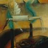 Marion Lucka: Ägyptischer Engel. Öl aufPapier 30 x 40 cm (1989)