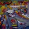 Marion Lucka: Chaos, Öl, 130 x 150 cm (1997)