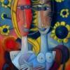 Marion Lucka: Junibblumen, Öl, 120 x 150 cm (1999)