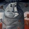 Marion Lucka: Angstindianer, Öl, 30 x 40 cm (1994)
