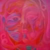 Marion Lucka: Seelengesicht, Öl, 100 x 100 cm (1997)