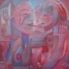 Marion Lucka: Abfühlen, Öl, 100 x 100 cm (1997)