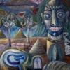 Marion Lucka: Angstindianer2, Öl, 70 x 80 cm (1996)