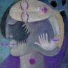 Marion Lucka: Dreischlaf, Öl, 30 x 30 cm (2010)