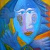 Marion Lucka: Fisch im Feuer, Öl 50 x 70 cm (1998)