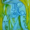 Marion Lucka: Gefressen, Öl, 90 x 100 xm (1994)