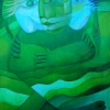 "Marion Lucka: ""Grünes Paar"" 70 x 100 cm (2000)"