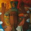 """Marion Lucka: Ölgemälde """"Gruß"""" 130 x 150 cm (1999)"""