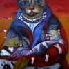 "Marion Lucka: Ölgemälde "" Herbstblutkatze"" 60 x 80 cm (2015)"