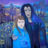 Marion Lucka: Im Juli, Öl, 100 x 100 cm (2011)
