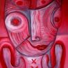 Marion Lucka: Katzenrot, Öl, 40 x 50 cm (2017)