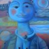 "Marion Lucka: ""Kosmisches Kind"" 60 x 80 cm (1996)"