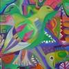 Marion Lucka: Mexikanische Vögel, 70 x 90 cm (1992)