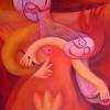 Marion Lucka: Mutter und Kind, Öl, 40 x 50 cm (2008)