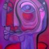 Marion Lucka: Novemberkopf, Öl 60 x 80 cm (2005)