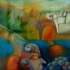 Marion Lucka: Südlich, Öl, 30 x 40 cm (1990)
