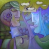 Marion Lucka: Sommertraum, Öl, 60 x 60 cm (2013)