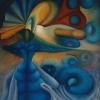 Marion Lucka: Tänzerin, Öl, 50 x 60 cm (1988)