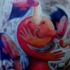 Marion Lucka: Tänzein, Öl, 100 x 120 cm (1998)