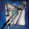 Marion Lucka: Tod, Öl, 80 x 80 cm (1998)