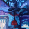 Marion Lucka: Tod, Öl, 50 x 60 cm (1993)