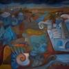 Marion Lucka: Traumland, Öl, 120 x 150 cm (1997)