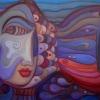 Marion Lucka: Weiblicher Fisch, Öl,60 x 80 cm (2004)