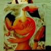 Marion Lucka: Mit der Tänzerin auf dem Dach in Arzberg (1996)