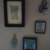 Die Minibilder an der Wand einer netten Sammlerin...