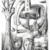 Marion Lucka: Apfelbaum, Bleistift (2003)