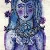 Marion Lucka: Tuschezeichnung Blauengel (2012)