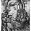 Marion Lucka: Doppelengel, Bleistift (2000)