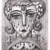 Marion Lucka: Junitrauer, Bleistiftzeichnung, 6 x 8 cm (2016)