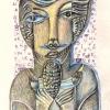 Marion Lucka: Kreta, Bunt/Bleistift (2014)