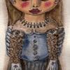 Marion Lucka: Novemberpuppe, Tusche/Aquarell (2014)