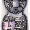 "Marion Lucka: Tusche/Aquarell "" Novemberkatze, traurig"" (2016)"
