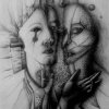 Marion Lucka: Schmerz; Bleistift (1984)