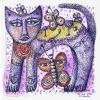 Marion Lucka: Tuschezeichnung Sommerkatze (2011)