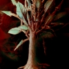 Marion Lucka: Baum, Aquarell, 30 x 40 cm (1990)
