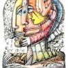 Marion Lucka: Februargesicht, Buntstift, (2010)