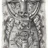 """Marion Lucka: Bleistiftzeichnung """"Feiertageskatze"""" 10 x 15 cm (Dezember 2017)"""