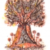 Marion Lucka: Herbstbaum, Tusche (2012)